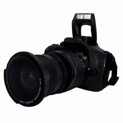 0.35X58MM Camera Super HD Wide Angle Fisheye Lens With Macro for Canon EOS KX