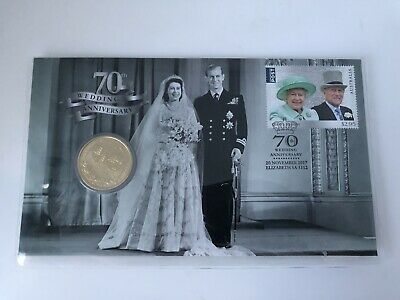 2017 70th ROYAL WEDDING ANNIVERSARY $1 COIN & STAMP