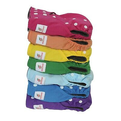 Modern Cloth Nappy Reusable One size fits all X 5 of any chosen patterns
