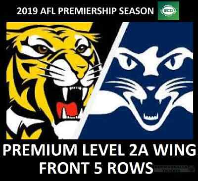 AFL Tickets   Richmond Tigers vs Geelong Cats   Premium Level 2A Wing