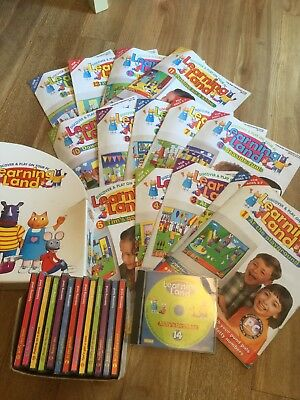 Set of Learning Land PC CD Rom / No.1- No.14 With Magazines educational Fun