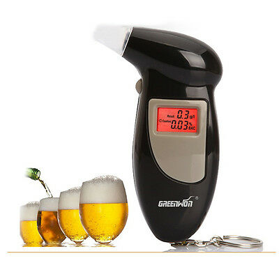 Digital LCD Breath Alkohol Breathalyzer Analyser Tester Test Detector Key