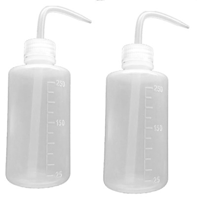 Safety Wash Bottle Squeeze Bottle Narrow Mouth Plastic 250ml 8oz 2 Bottles
