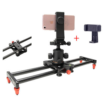 Carbon Fiber Camera Phone Slider Portable Video Dolly Track for Sony iPhone Xs