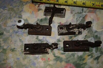 Lot  Of 5  Antique Ornate   Window  Locks,Real Nice Set