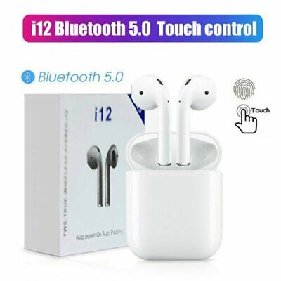i12 TWS Wireless Earphone Bluetooth5.0 Earbuds Headphone For iOS iPhone Android