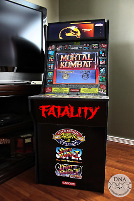 Arcade1Up Upper Kickplate Mortal Kombat Sticker Decals Vinyl FATALITY FINISH HIM