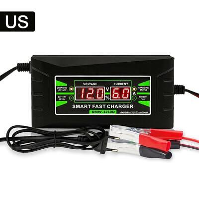 12V 6A Car Charger LED Intelligent Display Electric Car Battery Smart Charger