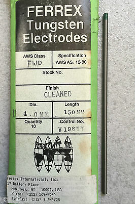 1 -electrode Welding Tungsten Pure Green Welding Tig de 4, 0x150mm Made in USA