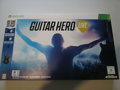 Guitar Hero Live (Xbox 360) - Guitar Controller, Game Disc DONGLE NEW