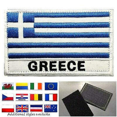 Sew or Iron on Greece Rhodes Flag Embroidered Patch