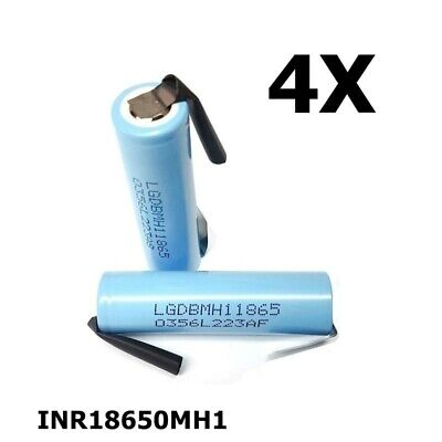 UK NK118-4x LG INR18650MH1 3200mAh 10A 3.6V rechargeable Lithium battery 4 Piece