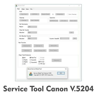 Canon ST v 5204 Service tool 5204  unlimited for 1PC reset