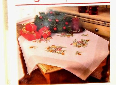 """NEW DUFTIN  of HUNGARY """"BIRDS"""" Table Topper Stamped Embroidery Kit w/ Floss"""