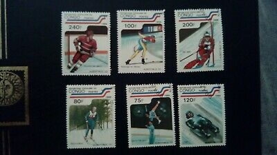Congo 1989 Olympic Games Albertville 92 Ski Jeux Olympiques