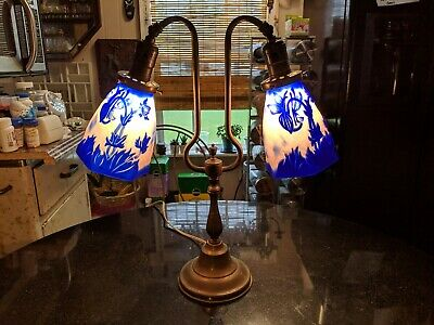 Gorgeous Antique Table Lamp With Arts And Crafts Shades