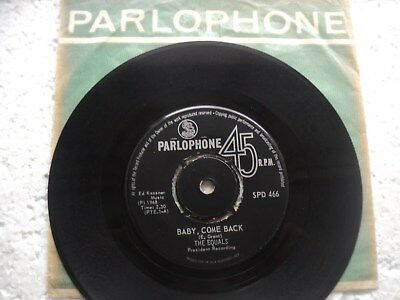 The Equals - Baby come back/ Giddy up a ding Dong- Rare S.Africa 45 RPM