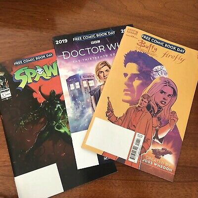 FREE COMIC BOOK DAY FCBD Lot of 3 Doctor Who Buffy Firefly Spawn