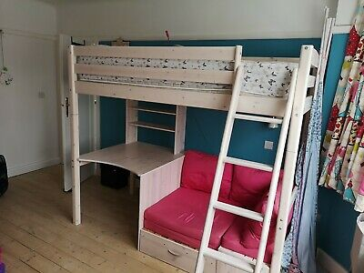 Awe Inspiring Stompa High Sleeper Single Bed With Futon Double Sofa Bed Bralicious Painted Fabric Chair Ideas Braliciousco