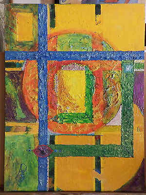 ABSTRACT Surrealism 'TIME WINDOW' Oil Painting