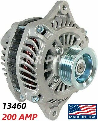 200 AMP 8296 Alternator Honda  Accord 2003 V6 3.0L High Output HD Performance US