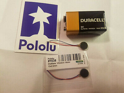 2 Pololu Coin Shaftless Vibration Motor Dimensions 10 x 2.0 mm
