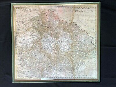 Bohemia  Homann Heirs Original Copper Engraved Map 1748