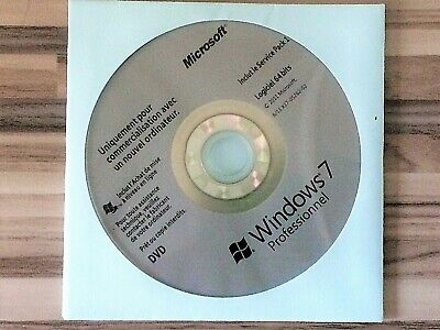 Microsoft DVD Windows 7 Pro 64 Bit System Builder PC Disc​ Instal et Réinstaller