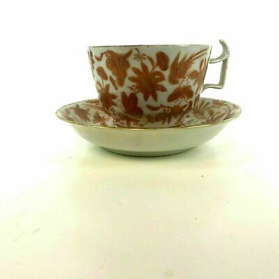 Rare Chinese 19th / 18th Century Iron Red Tea Cups and Saucers #13