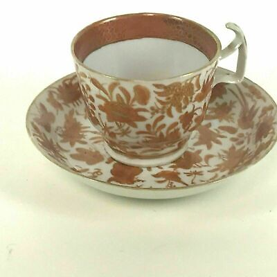Rare Chinese 19th / 18th Century Iron Red Tea Cups and Saucers #16