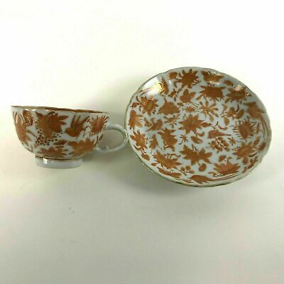 Rare Chinese 19th / 18th Century Iron Red Tea Cups and Saucers #19