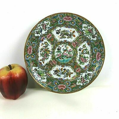 19th Century Rose Medallion Chinese Porcelain Plate #209-.**
