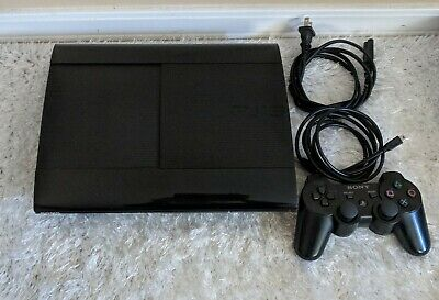 PS3 Sony PlayStation 3 CECH-4001B  - Super Slim - 250 GB Console - Bundle