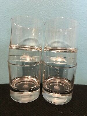 4 CROWN ROYAL Holographic Crown Canadian Whisky Rocks Glasses Whiskey glass NEW