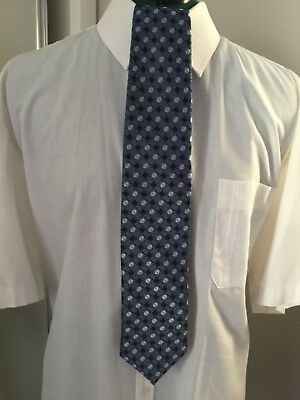 Men's Neck Tie By Tarocash  Blue and Grey Patterned