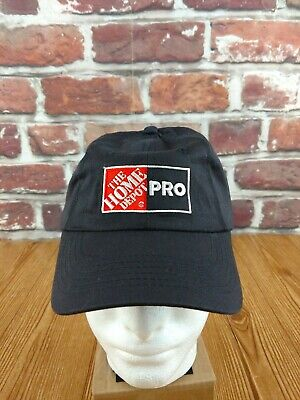 c939cce2ca682 VTG The Home Depot Pro Logo Embroidered Hat Cap Adjustable BLACK Snapback  NWOT