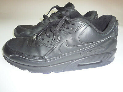 quality design 0a892 13902 Nike Air Max 90 Running Shoes Leather Black Style 302519 001 Men s Size 11.5