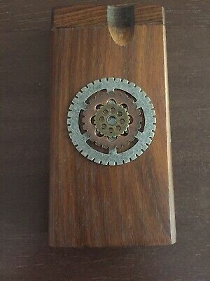 "Steam Punk Handmade 4"" Wooden Dugout W/ 3"" Aluminum Bat Fast, Florida Shipper✌"
