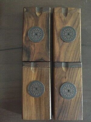 "Handmade 4"" Wooden Dugout W/ Small Copper Compass W/ 3"" Alum. Bat, Fast US Ship✌"