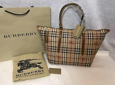 d319a8c0dd79 BURBERRY LORNE HAYMARKET Small Leather Tote Bag( Authentic)Retail ...