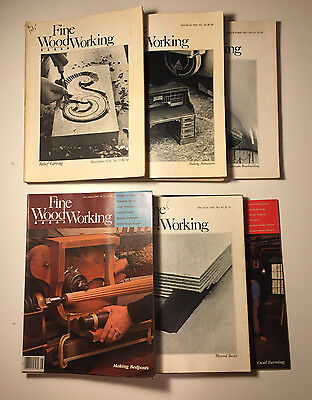 Vintage Fine Woodworking Magazine Carpentry Projects Plans, Lot of 24, 1978-1986