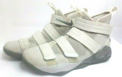cheap for discount 2cf88 ff351 Nike Shoes LeBron Soldier Xi 11 Size 8.5 Men White Gray High Top sfg