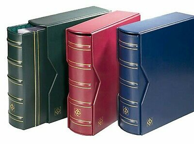 Lighthouse Optima Gigant Album W/ Slipcase Coins Stamps Notes Collections (RED)