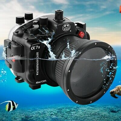 Seafrogs 40m/130ft Waterproof Underwater Case Cover For Sony A7II 28-70mm Camera