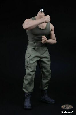 """1/6th XRF XM01A Male Green Pants Clothes Set Fit PH M34 Muscle 12"""" Figure Body"""
