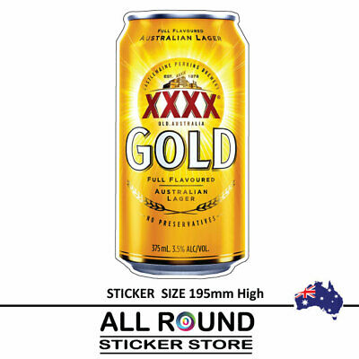 XXXX Gold Beer Can   Sticker Suit Bar Camping Fishing Boat POPULAR