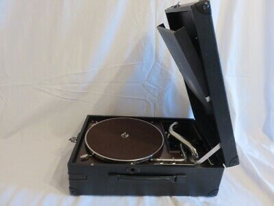 Vintage HMV 101 Portable Gramophone - IN VERY GOOD CONDITION - SERVICED - TESTED