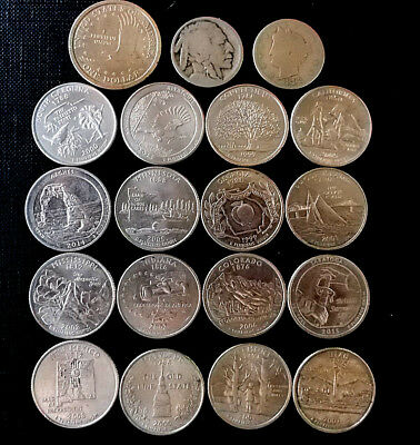 currency coins of the United States of America/ monedas circuladas USA