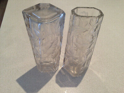 Moser of Karlsbad glass vases - rare