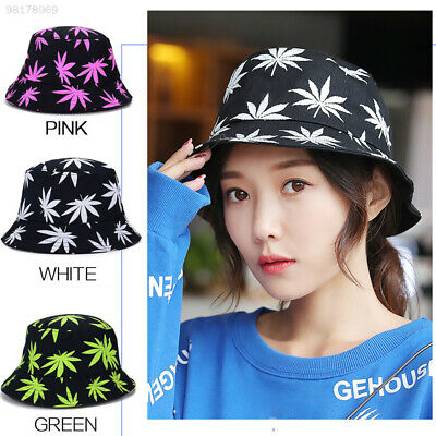 33BC Maple Leaf Fisherman Hat Ultraviolet Adults Sun Decoration Bucket Hats